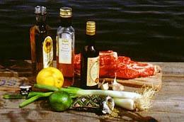 Båtfolk gillar att grilla, men glöm inte marinaden.