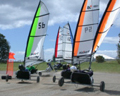 Blokart är sporten för den som vill segla riktigt fort.