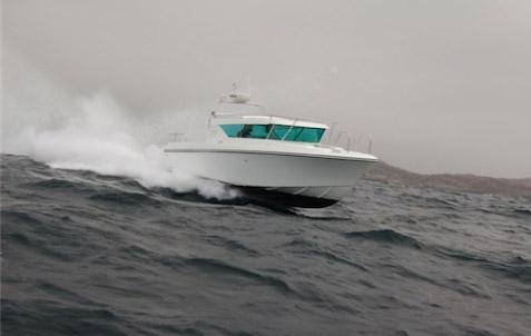 Delta 29 fungerar både som weekend- och transportbåt.