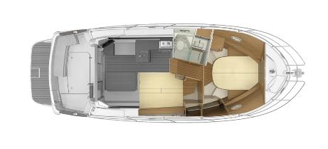 Skiss kabiner Antares 11.