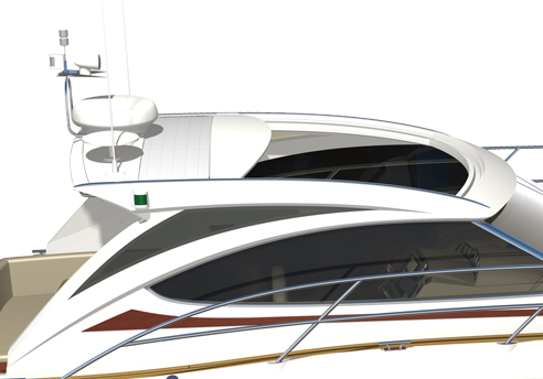 Taket på 370 Sport går att öppna elektriskt.