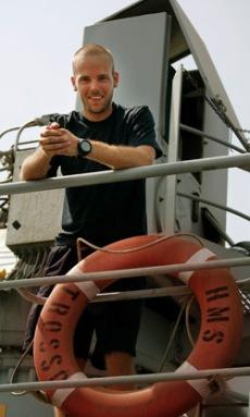 Sjömannen Stefan Åkerberg ingår i besättningen på HMS Trossö