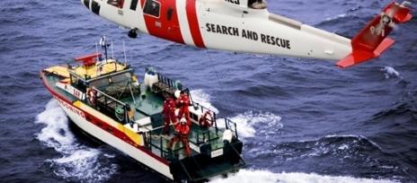 Vad sker på en övning i sjöräddning?