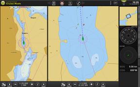 Digitalt sjökort.