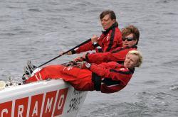 Linda Rahm, Anna Skarenhed och Annika Carlunger mot OS i London 2012