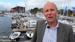 Gustav Morin filmar Claes Olivecrona hamnen.se på Flytande båtmässan i Stockholm