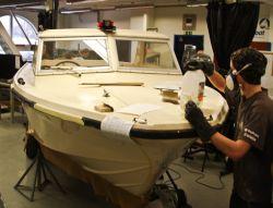 Ungdomarna på Marina Läroverket har renoverat en klasslisk Ockelbo HT 19 som ska ställas ut på båtmässan Allt för sjön