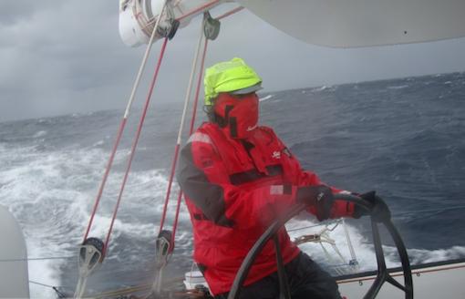 Thomas Coville i hård vind