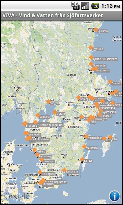 ViVa mätstationer Foto: Sjöfartsverket