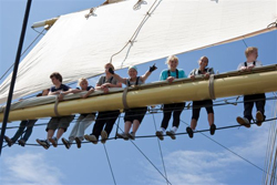 Tallship race: unga i riggen