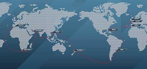 Ruttkarta Volvo Ocean Race 2011-12.