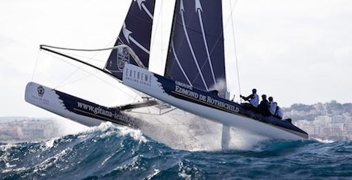 Extreme sailing series fartfyllt i Frankrike.