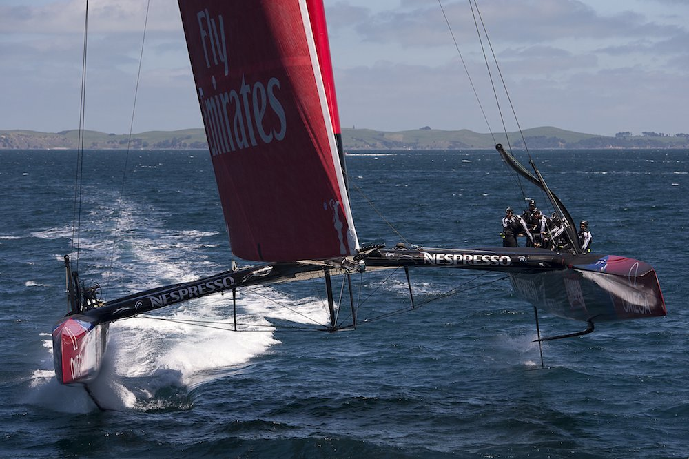 Team New Zealand foiling