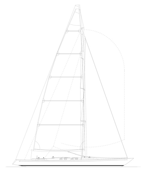 Swede 68 Sail  rig plane