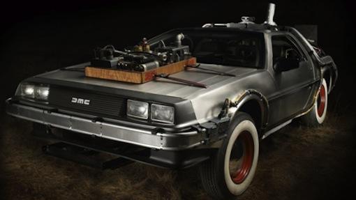 DeLorean tillbaka till framtiden.
