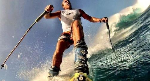 Chuck Patterson waveskiing