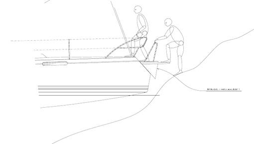 Den moderna skärgårdsbåten ombordstigning