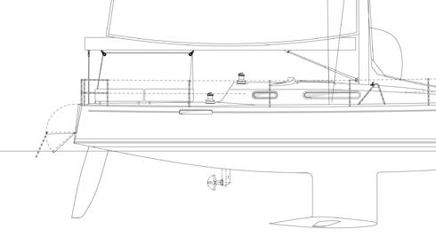 Håkan Södergren sitter och ritar på en ny modern skärgårdsbåt