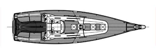 Moderna skärgårdsbåten – däckslayout.