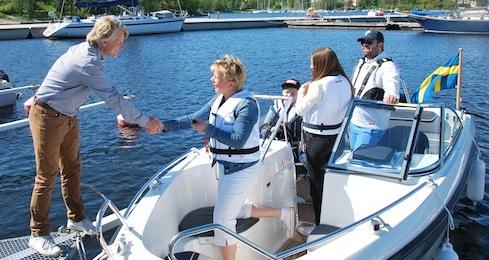 "Vinnaren i Sweboats tävling ""Vinn ett båtliv"""