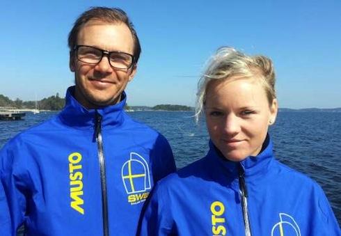 Hanna och Tim i landslaget med Nacra 17