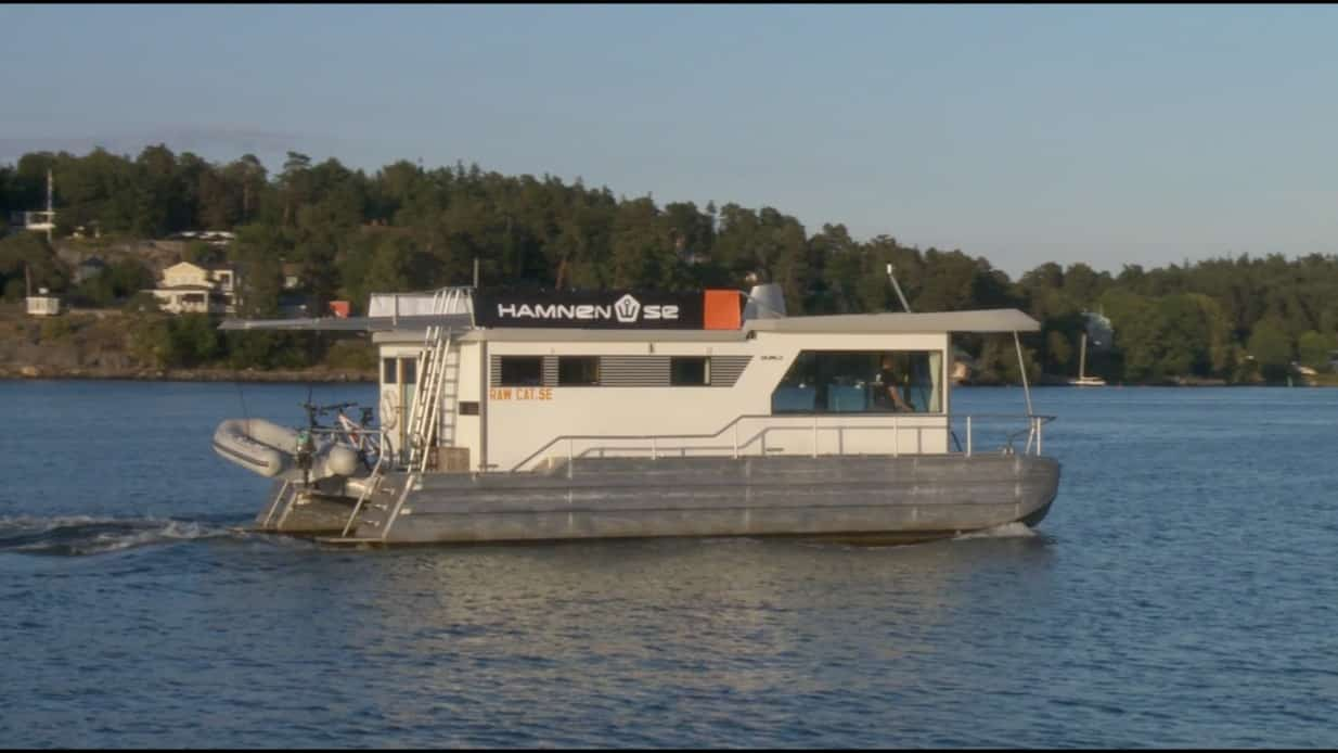 På väg till båtmässan Allt på sjön i Gustavsberg