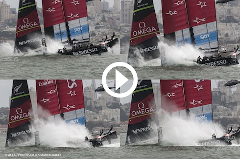 racing_bankappsegling_2013_Louis_Vuitton_Cup_final1_Team_New_Zealand_nose_dive