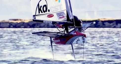 Moth Sailing Bernt Lindquist