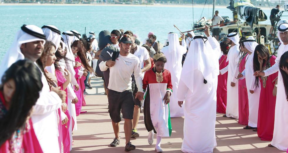 racing_havskappsegling_2014_VOR_Etapp_2_Finish_Donfeng_Abu_Dhabi