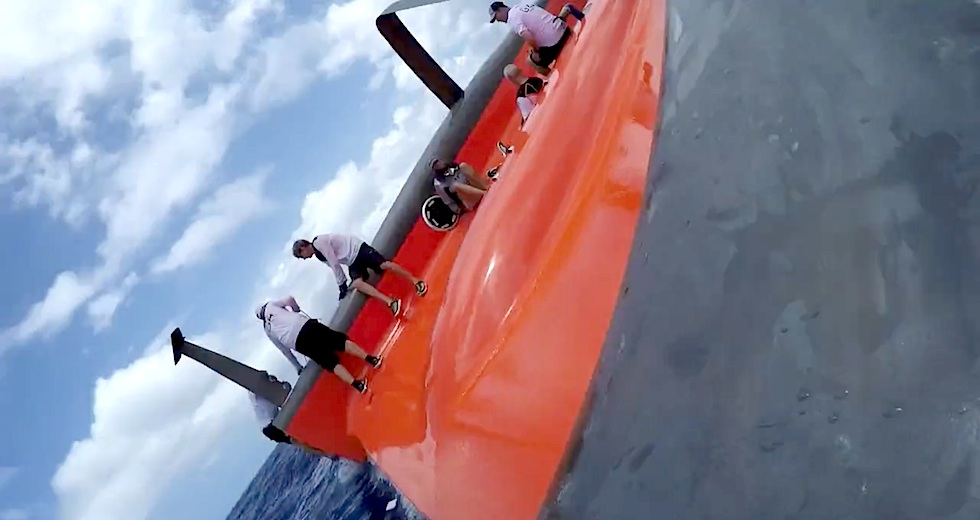 Gunboat G4 onboard capsize