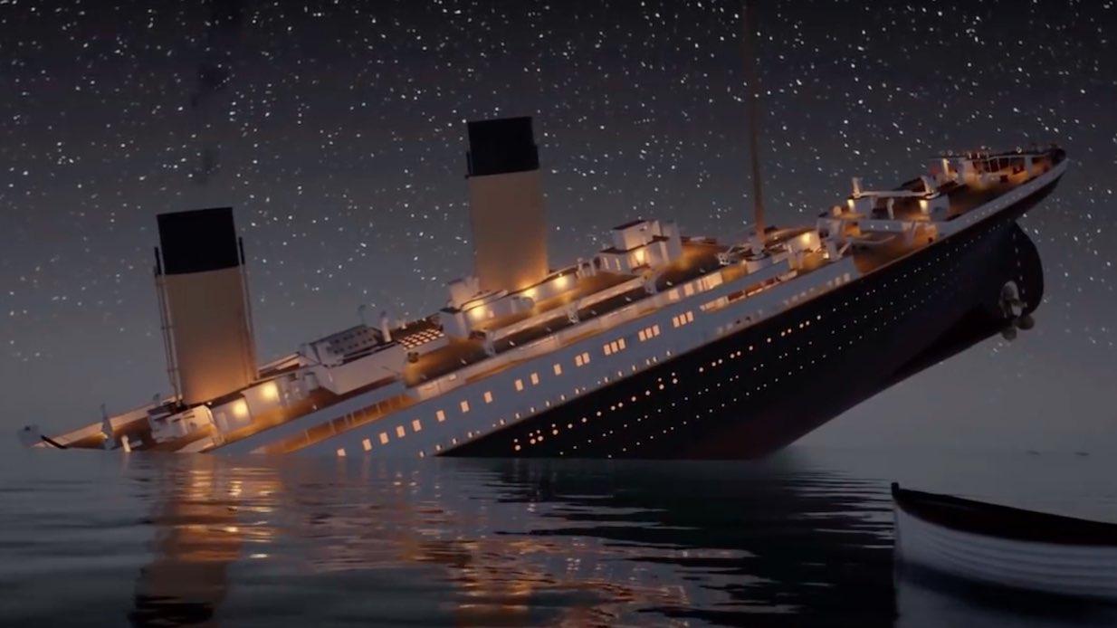 Titanic – förlisningen rekonstruerad i realtid!
