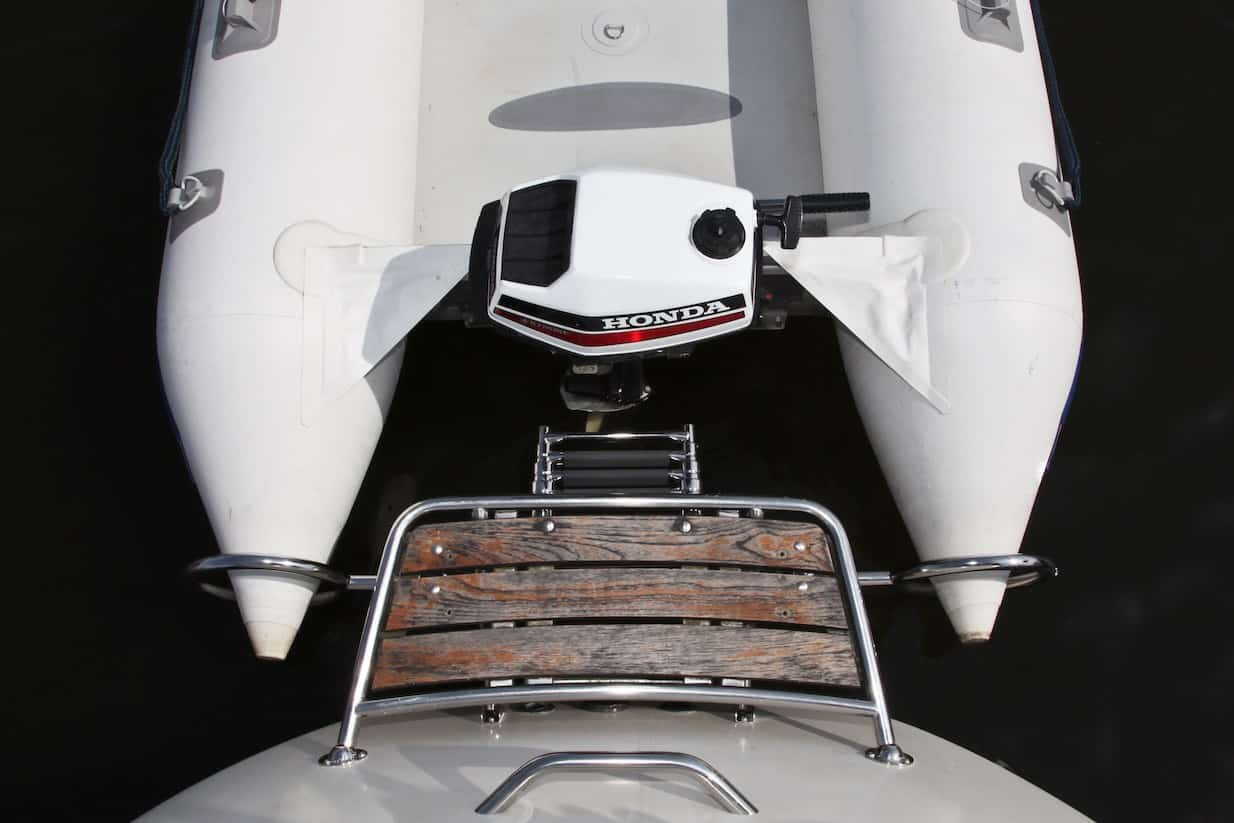 Dinghy Rings outboard mounted