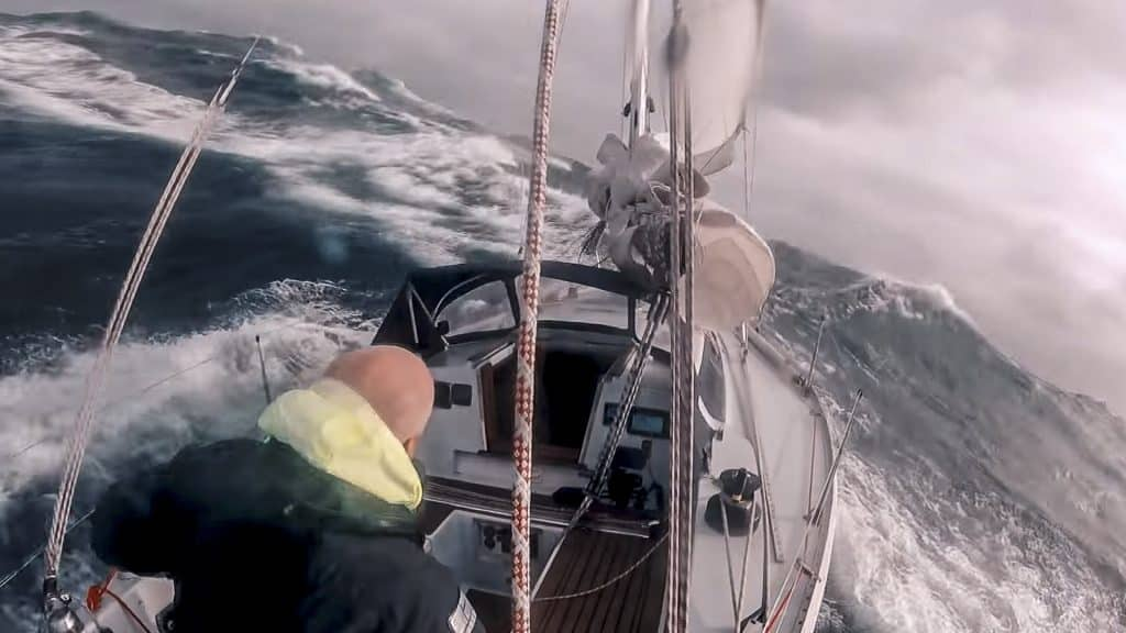 Stormsegling med Erik Aanderaa.