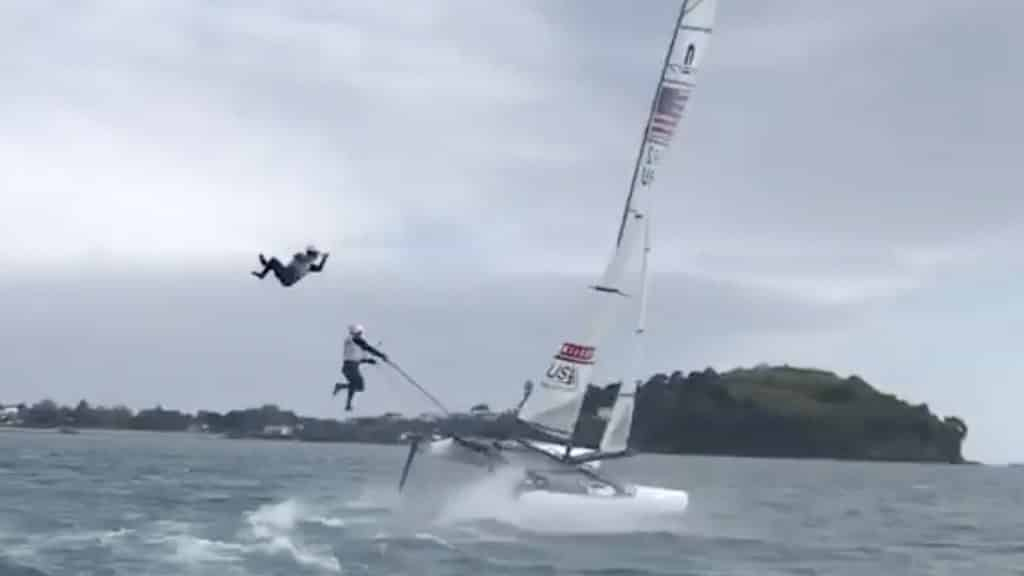 Nacra 17 crash.