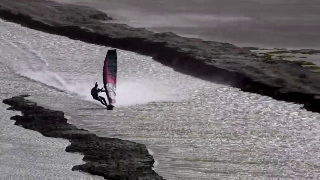 Speed record windsurfing Namibia