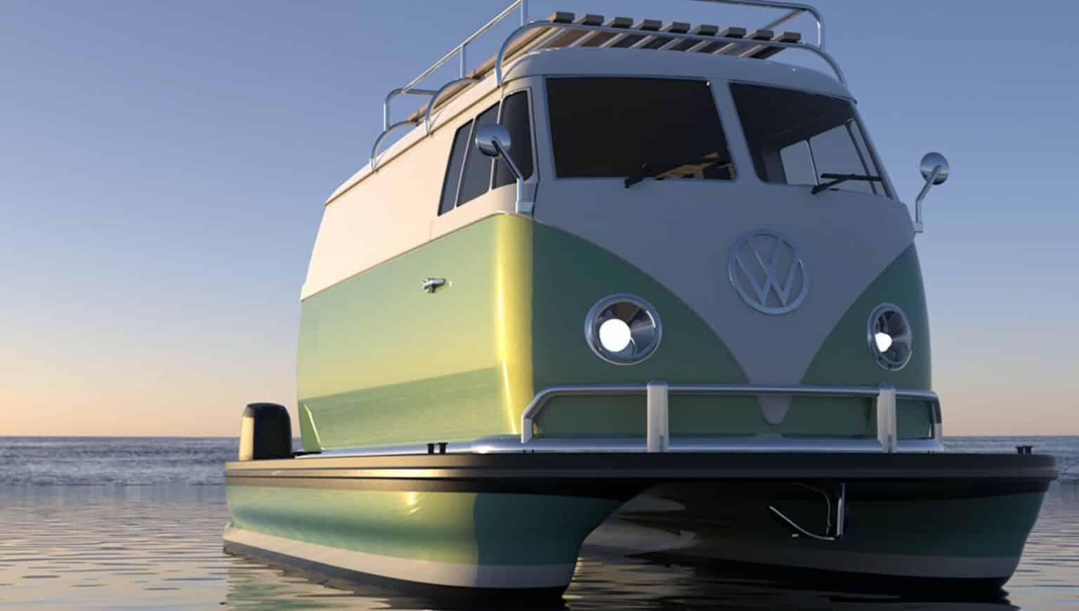 Volkswagen buss boat