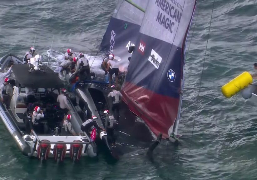 American Magic Capsize Americas Cup
