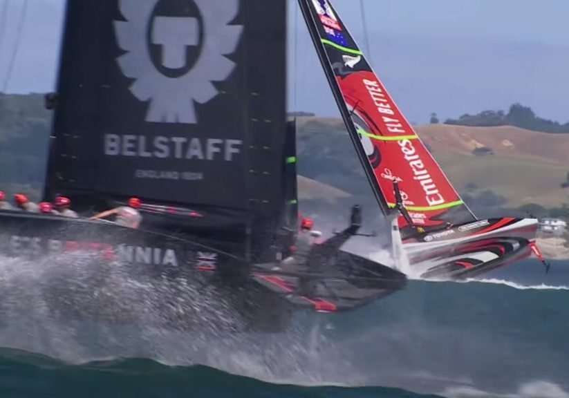 America's Cup capsize