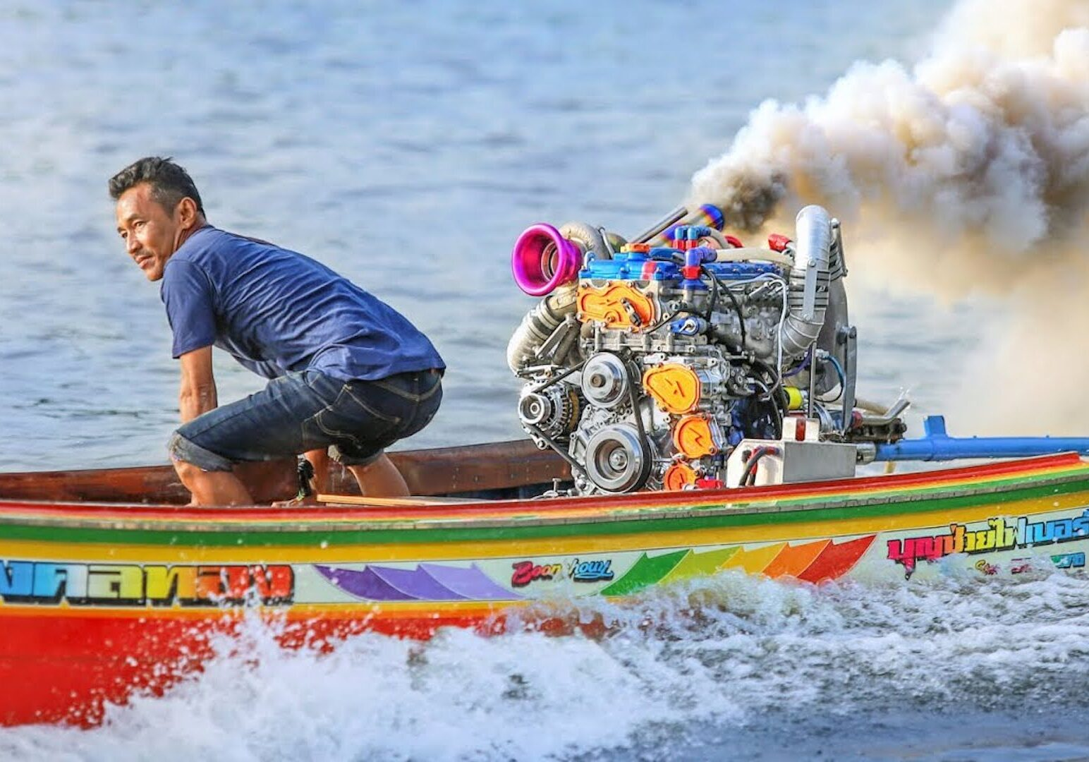 En vanlig motorsportdag i Thailand?