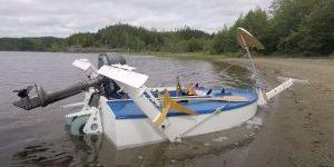 Hydrofoil foiling boat