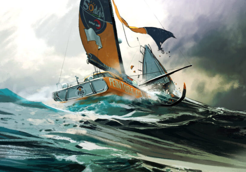 PRB breaks in half Vendee Globe