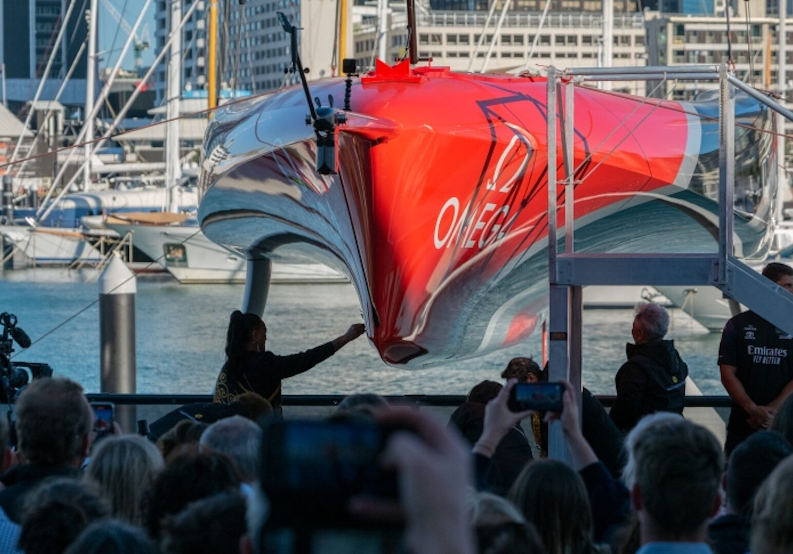 "Emirates Team New Zealand launch their second AC75 ' Te Rehutai"" 36th America's Cup presented by PRADA"