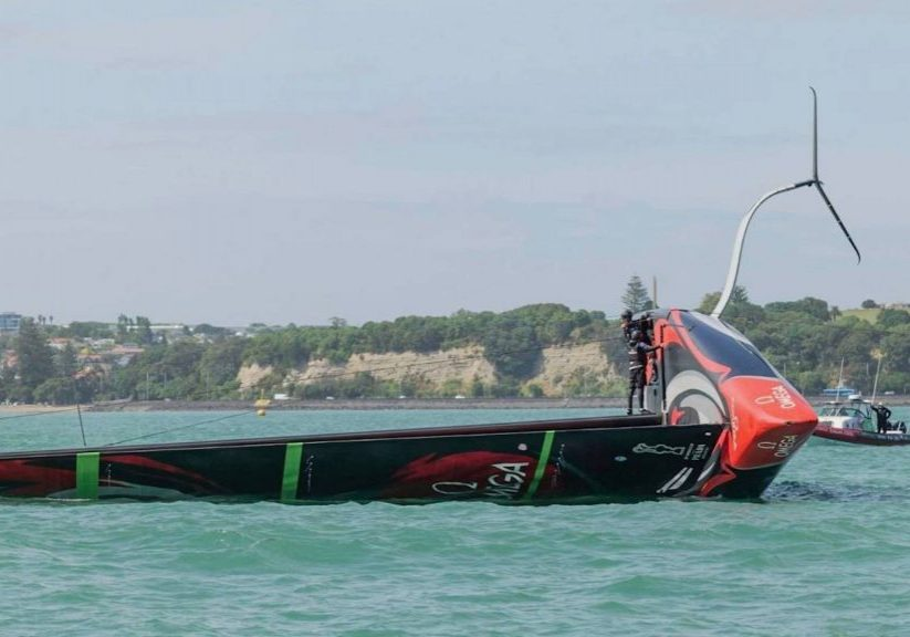 Team New Zealand Capsize1