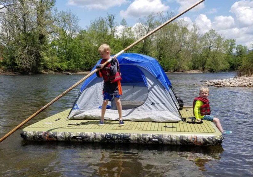 Uppblåsbar fiskeflotte – för familjen?