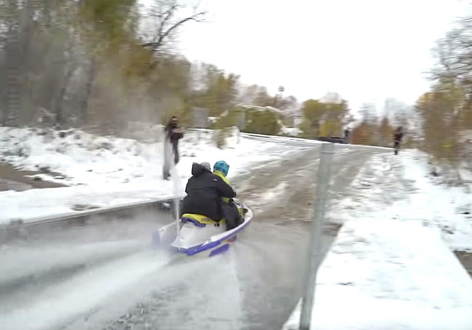 Vattensport som vintersport