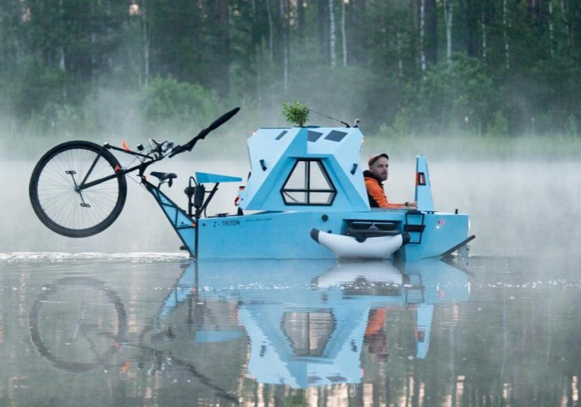 Z-Triton housboat and bike in one 18