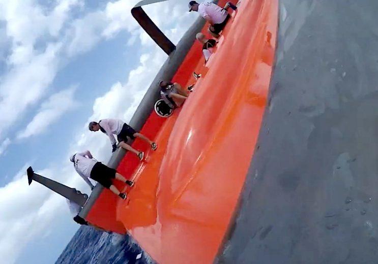 batar_segelbatar_2015_Gunboat_G4_Gunboat_G4_Capsize_ombord_Gunboat_G4_onboard_capsize