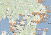 Kartbild från Sjöfartsverkets mobilapp ViVa.