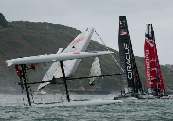Americas Cup fleet racing Plymouth