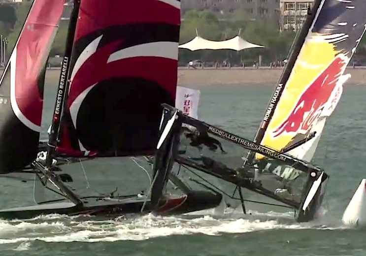 racing_bankappsegling_2014_Extreme_Sailing_Series_2014_Singapore_Highlights__Extreme_Sailing_Series_highlights